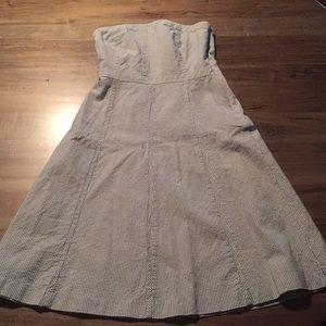 Banana Republic Seersucker Strapless Dress